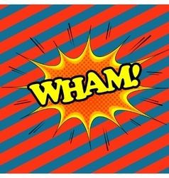 Wham comic text vector image
