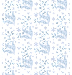 winter flowers vector image