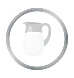 Milk jug icon cartoon single bio eco organic vector