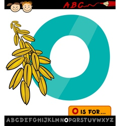 Letter o with oat cartoon vector
