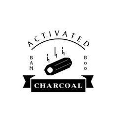 Bamboo charcoal logo with carbon stick vector