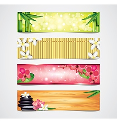 Banners spa vector