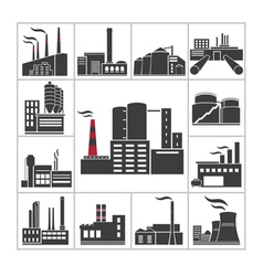 Factory and industry vector image