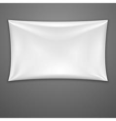 White Textile Banner vector image