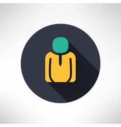 Man icon in modern flat design person silhouette vector