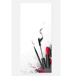 Cosmetic beauty makeup background vector