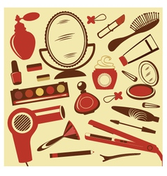 Beauty collection vector image