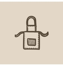 Kitchen apron sketch icon vector
