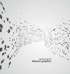 Abstract lattice space feeling of depth dots vector