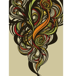 Abstract extraordinary floral design vector