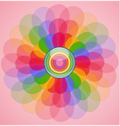 abstract transparent colorful flower vector image