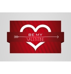 Be my valentine heart symbol card vector