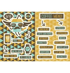Cafe menu Seamless backgrounds and design elements vector image vector image