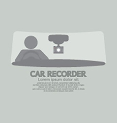 Car recorder graphic symbol vector