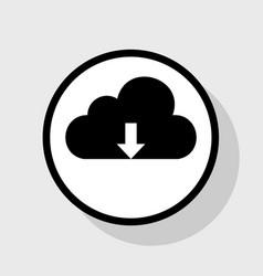 Cloud technology sign flat black icon in vector