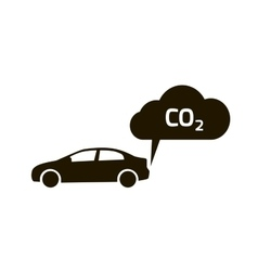 co2 emissions icon cloud flat carbon vector image