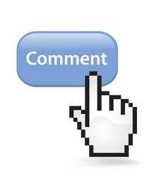 Comment button vector