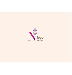 Development of creative logo typography letter n vector