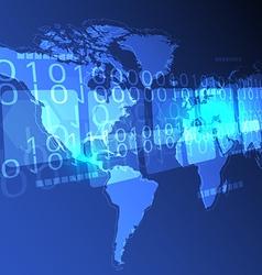 digital world concept background vector image