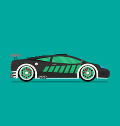 flat racing car eps 10 vector image