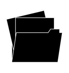 folder document symbol vector image vector image