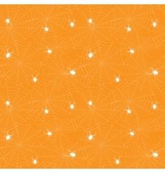 Halloween spider web seamless pattern vector image