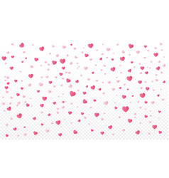 heart confetti or valentines falling background vector image