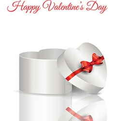 Heart shaped gift box vector image