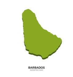 Isometric map of barbados detailed vector