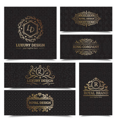 Luxury products labels design set vector