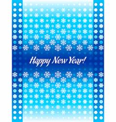 new year card cover vertical vector image vector image