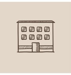 Office building sketch icon vector