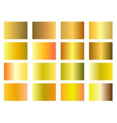 set of golden gradients gold background wealth vector image