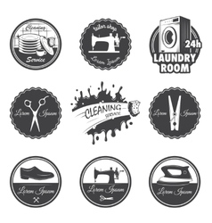 Set of vintage workshop emblems vector