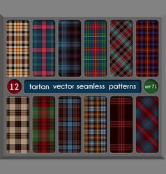 Set tartan seamless pattern background vector