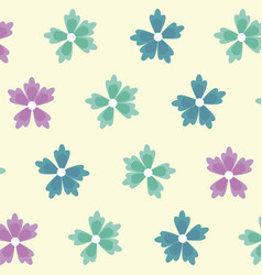 Spring flowers ornament seamless floral pattern vector
