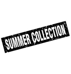 Square grunge black summer collection stamp vector