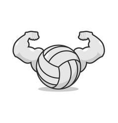 strong volleyball powerful gaming accessory vector image vector image