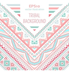 Tribal ethnic corner pattern vector