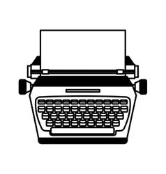 Typewrite retro isolated icon vector