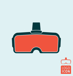 vr glasses icon vector image vector image