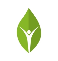 Leaf person green plant icon graphic vector
