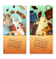 Fashion look banners vector