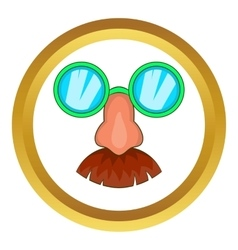 Disguise mask icon vector