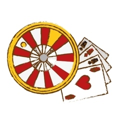 Gambling games design vector