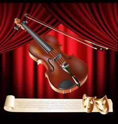 Classical violin vector