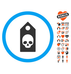 Death coupon icon with dating bonus vector
