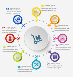 Infographic template with logistic icons vector