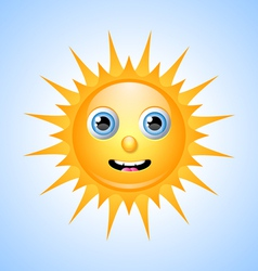 Cute sun character vector