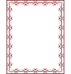 Red certificate background vector
